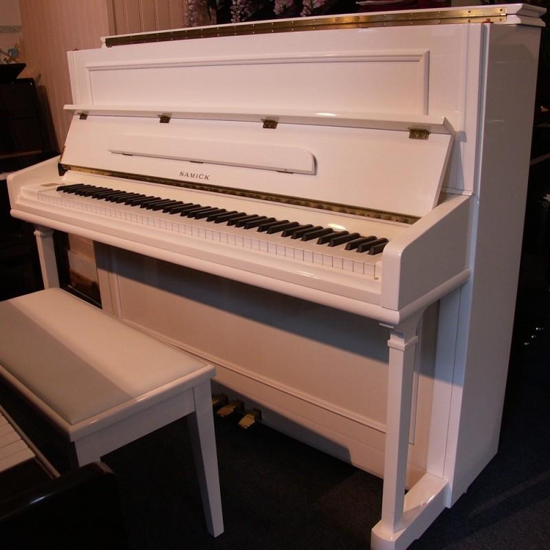 Samick 118 piano blanc melody music caen