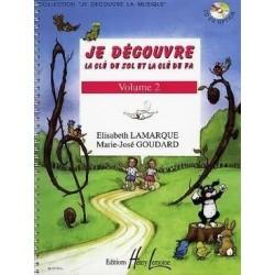 Je découvre la clé de Sol et la clé de Fa Vol.2 de LAMARQUE Elisabeth / GOUDARD Marie-José Ed. Henry Lemoine