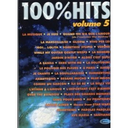 100% HITS Vol.5 en PVG, Ed. Carisch