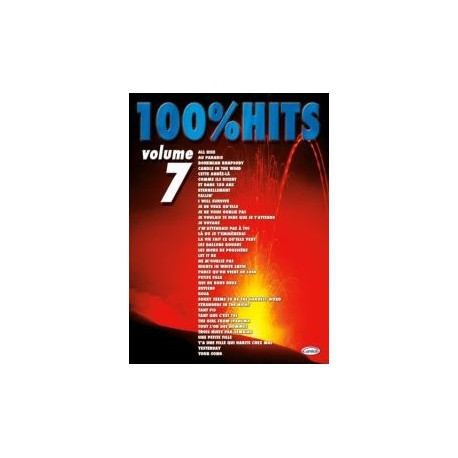 100% HITS Vol.7 en PVG, Ed. Carisch Mélody Music Caen