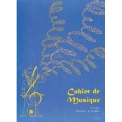 Cahier de musique 96 pages à spirales