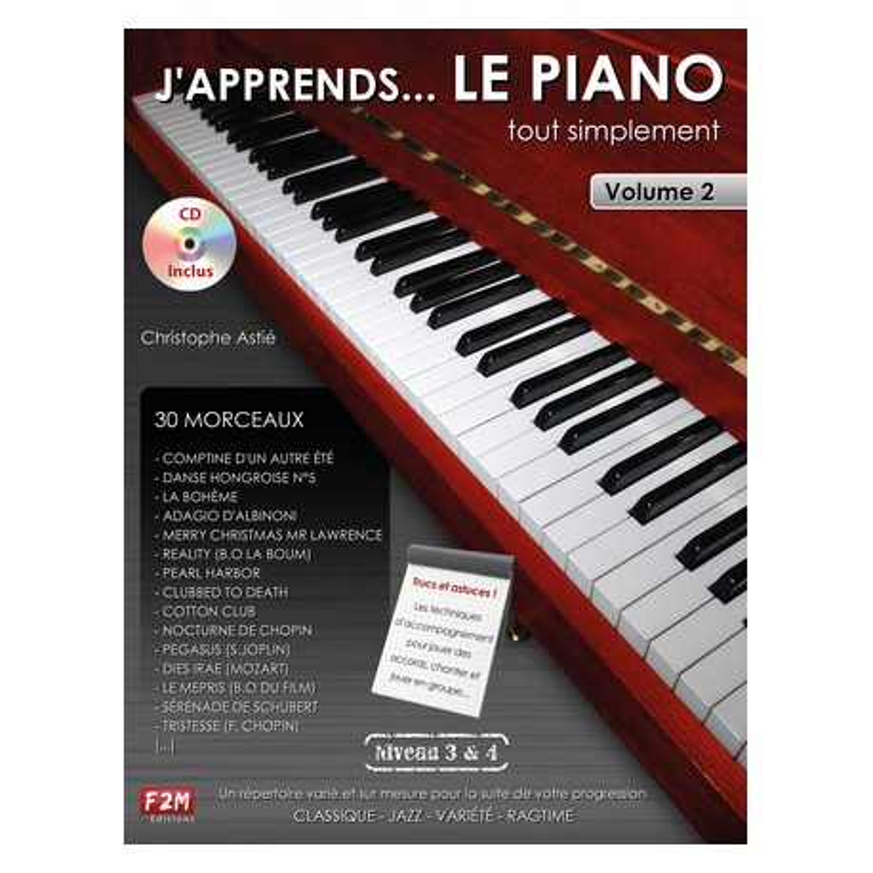 J'apprends le piano tout simplement niveau 3&4 VOL2 avec CD Melody Music Caen