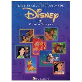 Les plus grandes chansons de Disney Piano Chant Guitare