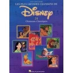 Les plus grandes chansons de Disney Piano Chant Guitare