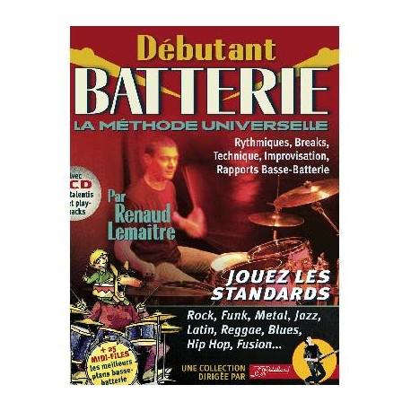 Debutant Batterie Rebillard + CD Melody music Caen