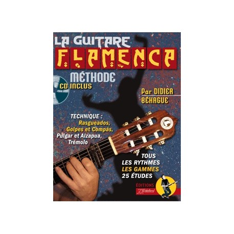 Methode La Guitare Flamenca avec CD Melody Music Caen