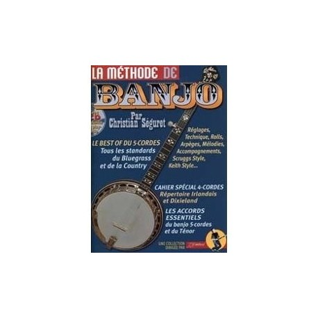 La methode de Banjo avec CD Mélody Music Caen