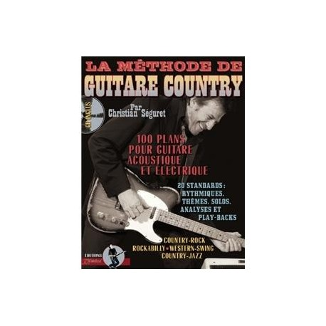 La Methode de Guitare Country avec CD Melody Music Caen