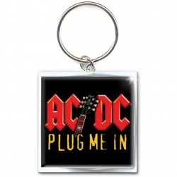Porte clé AC/DC Plug me en metal