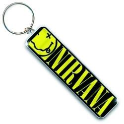 Porte clé Nirvana Smiley & Logo Keychain