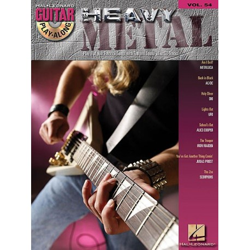 Play Along Guitar Vol54 Heavy Metal Ed Hal Leonard Melody music caen