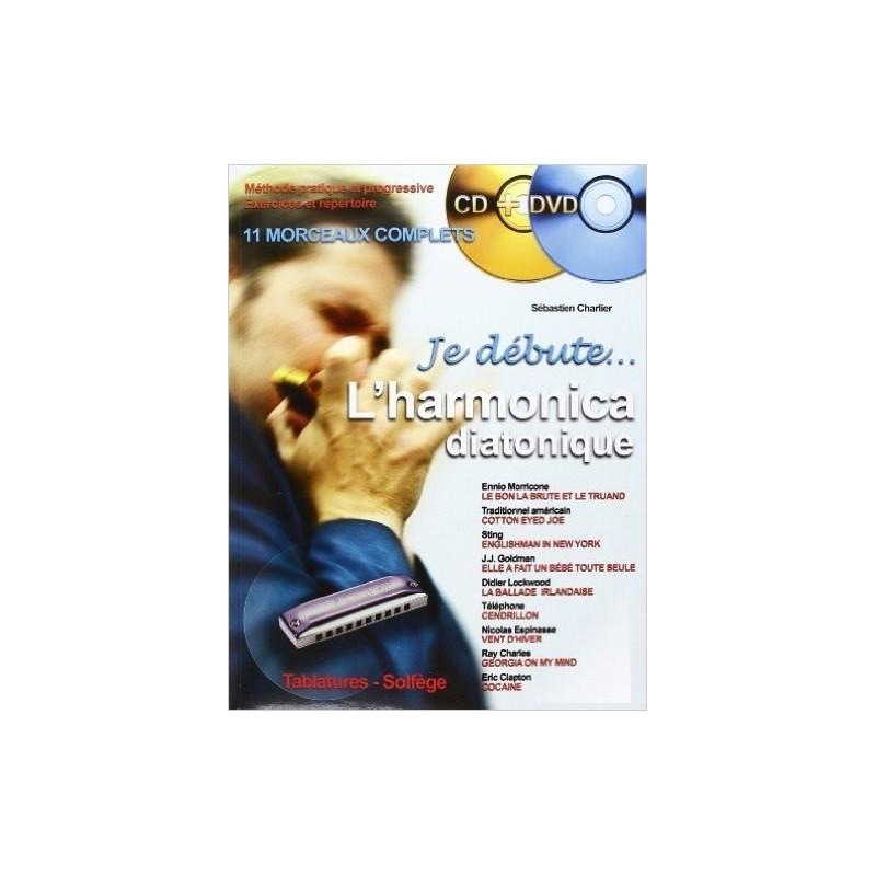 Méthode Je débute l'harmonica diatonique avec CD + DVD Melody Music Caen
