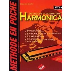 Découvrir et apprendre l'harmonica - Méthode en poche N°51 - Sébastien Charlier