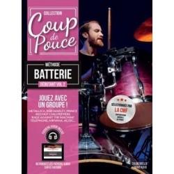 Coup de Pouce Méthode de Batterie Vol.2 + 2CD Mélody Music Caen