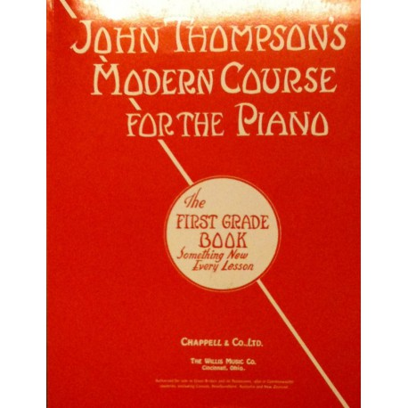 Modern course for the piano First Grade John Thompson s Ed Chappell Melody music caen