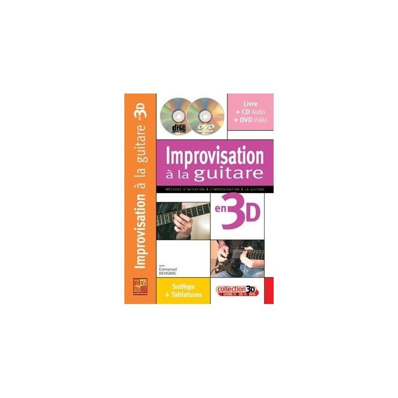 Improvisation à la guitare en 3D Emmanuel Devignac Ed Play Music Melody music caen