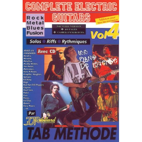 Complete Electric Guitars Vol4 Rock Metal Blues Fusion Ed Rebillard Melody music caen