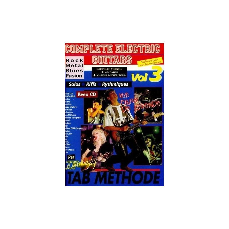 Complete electric Guitars Rock, Metal, Blues, Fusion Vol3 Ed Rebillard Melody music caen