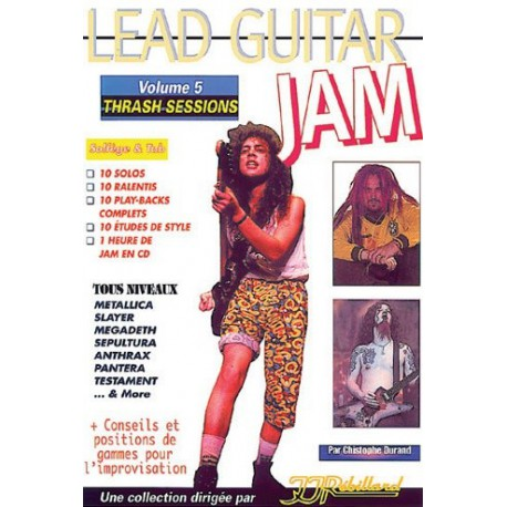 Lead Guitar Jam Trash Sessions Vol5 Ed rebillard Melody music caen