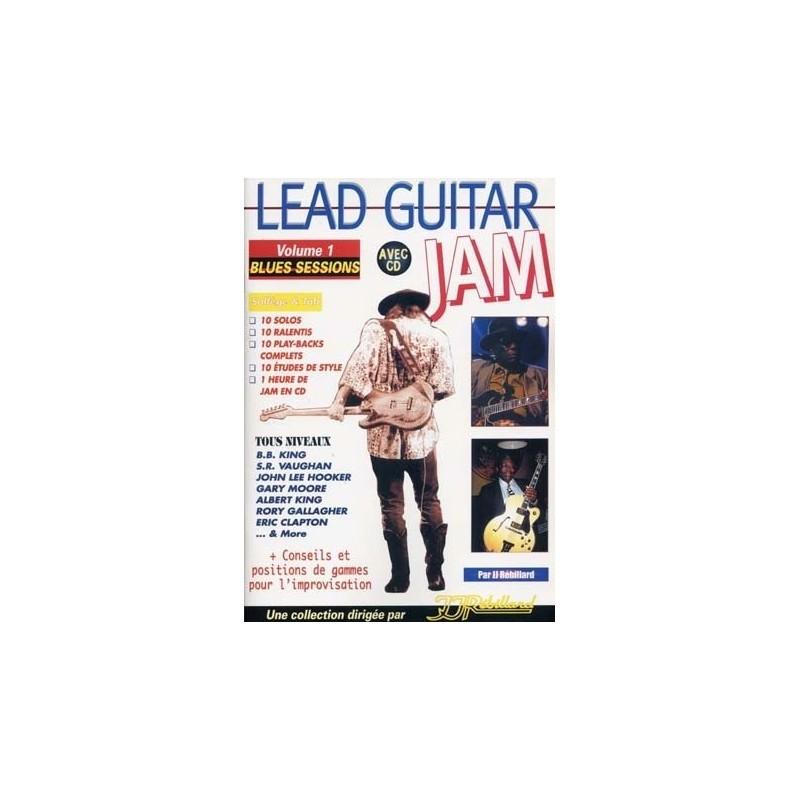 Lead Guitar Jam Vol1 Blues Sessions Ed Rebillard Melody music caen