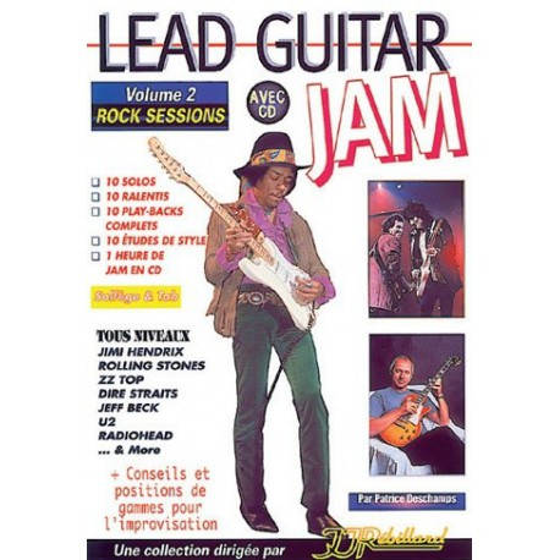 Lead Guitar Jam Vol2 Patrice Deschamps Ed Rébillard Melody music caen