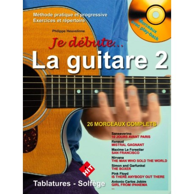 Je débute la guitare Vol2 Philippe Heuvelinne Ed Hit DIffusion Melody music caen