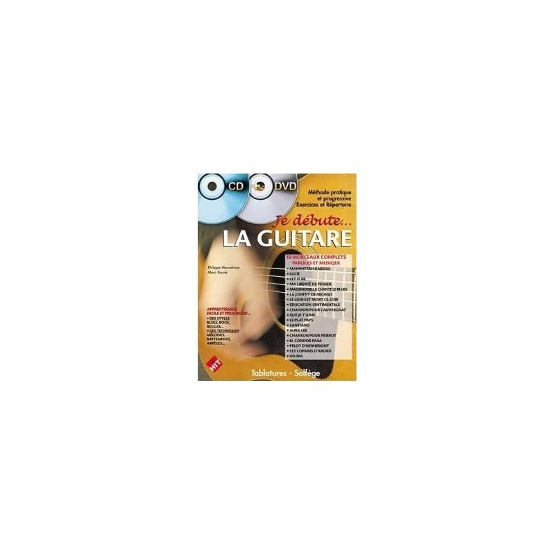 Je débute la guitare vol1 CD+DVD Philippe Heuvelinne Ed Hit Diffusion Melody music caen