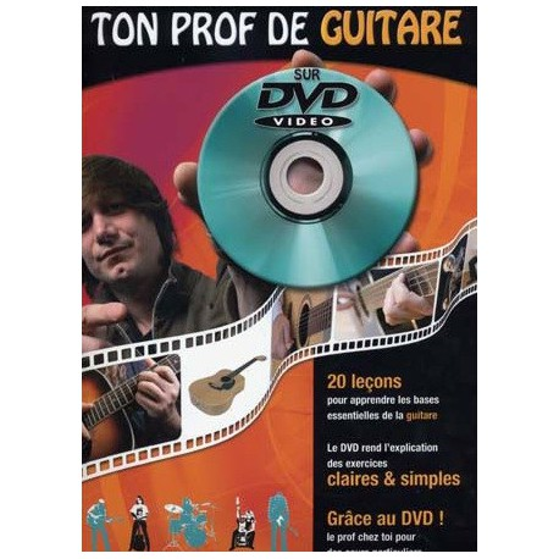Ton Prof de Guitare sur DVD Vidéo Julien Roux Ed Coup de Pouce Melody music caen