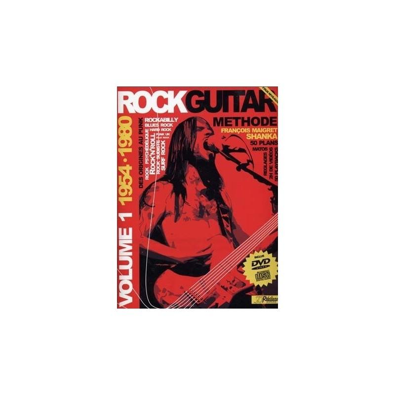 Rock Guitar Methode Vol1 1954-1980 François Maigret Ed Rebillard Melody music caen